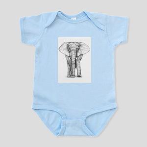 Elephant Drawing Infant Bodysuit
