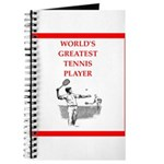 tennis gifts Journal