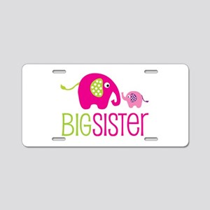 Big Sister Elephant Aluminum License Plate