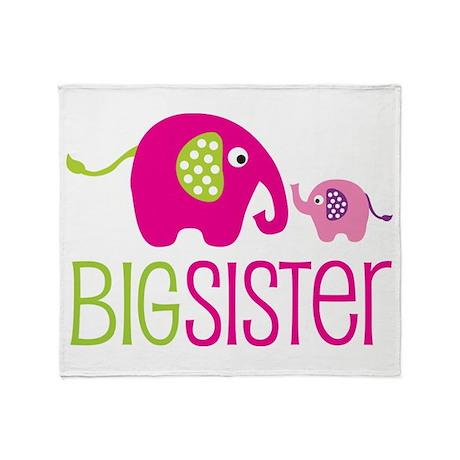 Big Sister Elephant Throw Blanket