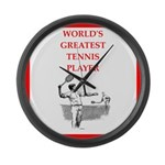 tennis gifts Large Wall Clock