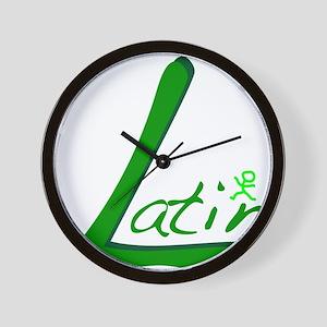 Latin Wall Clock
