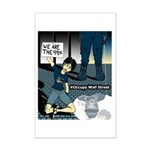 Occupy Wall St. Brave female protester Mini Poster
