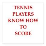 tennis gifts Square Car Magnet 3
