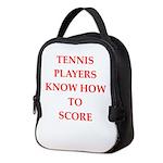 tennis gifts Neoprene Lunch Bag