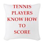 tennis gifts Woven Throw Pillow