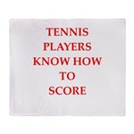 tennis gifts Throw Blanket
