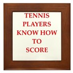 tennis gifts Framed Tile