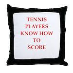 tennis gifts Throw Pillow