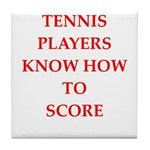 tennis gifts Tile Coaster