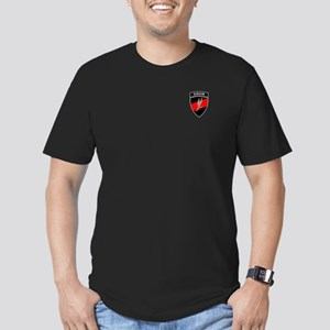 GROM - Red and Black w Tab Men's Fitted T-Shirt (d