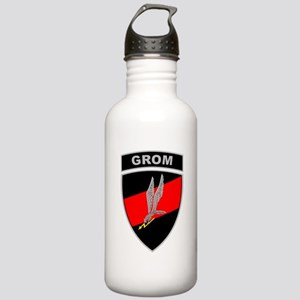 GROM - Red and Black w Tab Stainless Water Bottle