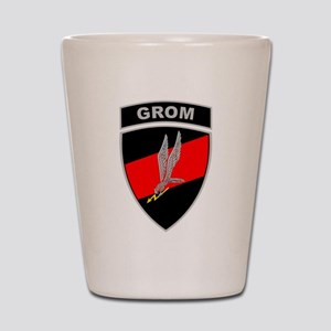 GROM - Red and Black w Tab Shot Glass