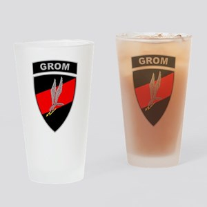 GROM - Red and Black w Tab Drinking Glass