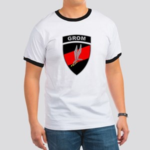 GROM - Red and Black w Tab Ringer T