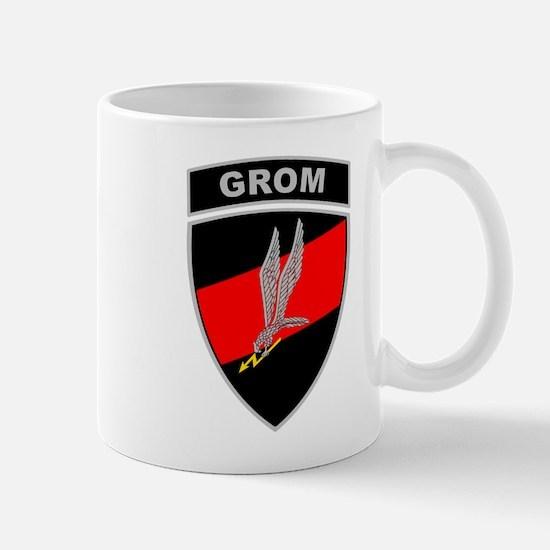 GROM - Red and Black w Tab Mug