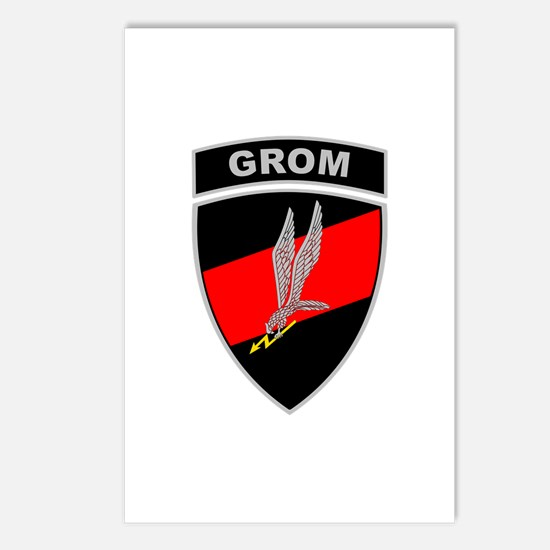 GROM - Red and Black w Tab Postcards (Package of 8