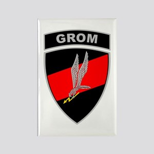 GROM - Red and Black w Tab Rectangle Magnet