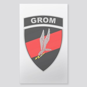 GROM - Red and Black w Tab Sticker (Rectangle)