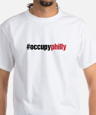 Occupy Philly White T-Shirt