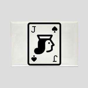 Jack of Spades Magnets