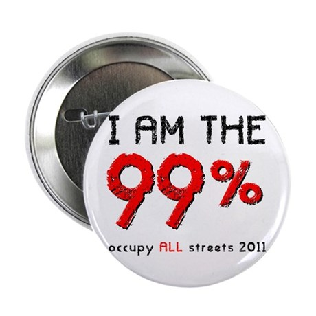 """I am the 99% 2.25"""" Button (100 pack)"""