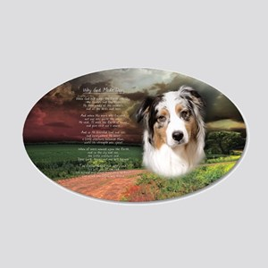 """Why God Made Dogs"" Australian Shepherd 22x14 Oval"