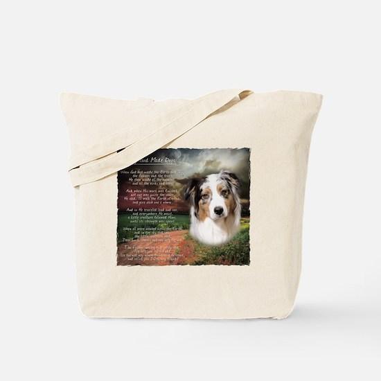 """Why God Made Dogs"" Australian Shepherd Tote Bag"