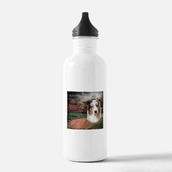 """Why God Made Dogs"" Australian Shepherd Water Bottle"