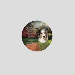"""Why God Made Dogs"" Australian Shepherd Mini Butto"