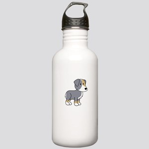 Cute Australian Shepherd Stainless Water Bottle 1.