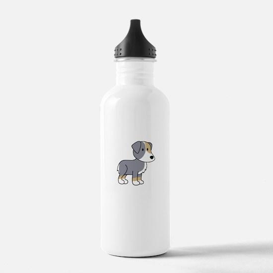 Cute Australian Shepherd Water Bottle
