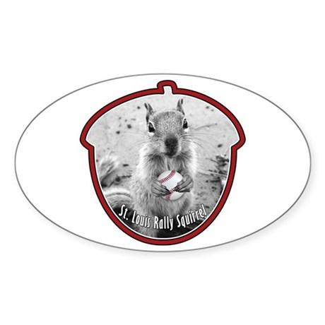St Louis RALLY SQUIRREL Sticker (Oval)