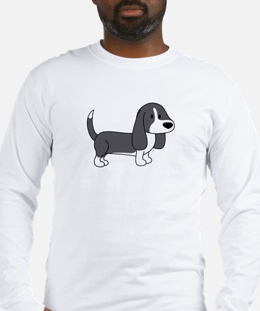 Cute Basset Hound Long Sleeve T-Shirt
