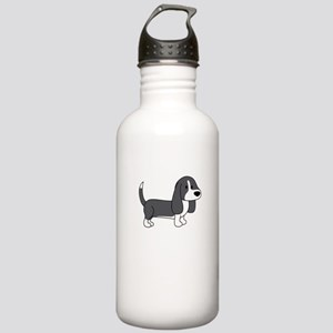 Cute Basset Hound Stainless Water Bottle 1.0L