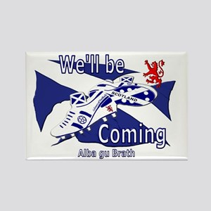 Scotland We'll be Coming Rectangle Magnet (10 pack