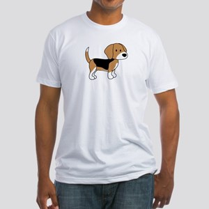 Cute Beagle Fitted T-Shirt