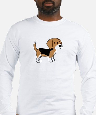 Cute Beagle Long Sleeve T-Shirt