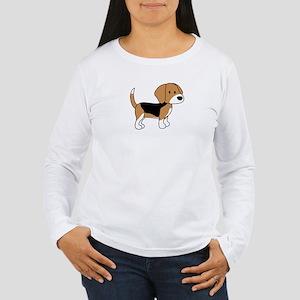 Cute Beagle Women's Long Sleeve T-Shirt