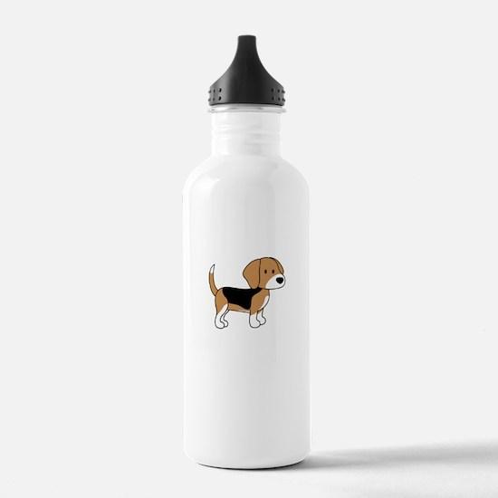 Cute Beagle Water Bottle