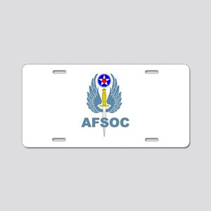 AFSOC (1) Aluminum License Plate