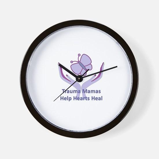 Trauma Mamas Heal Hearts Wall Clock