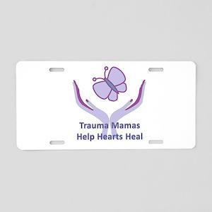Trauma Mamas Heal Hearts Aluminum License Plate