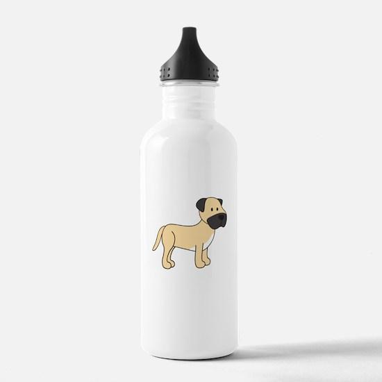 Cute Mastiff Water Bottle