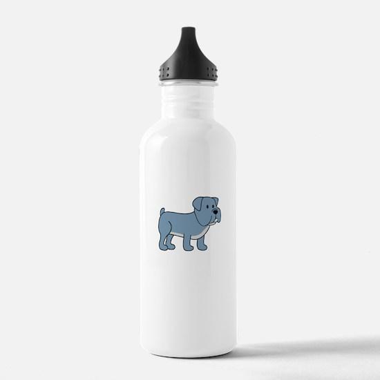 Cute Bulldog Water Bottle