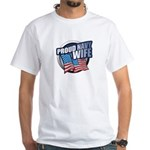 Navy Wife White T-shirt