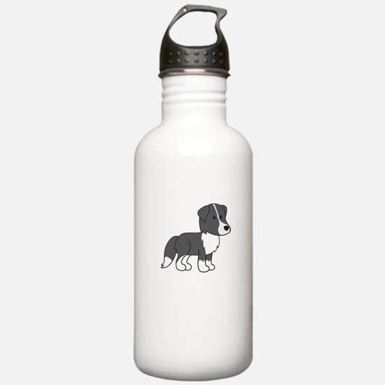 Cute Collie Water Bottle