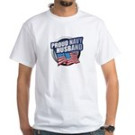 Navy Husband White T-Shirt