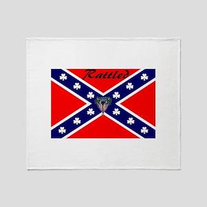 hillbilly logo Throw Blanket