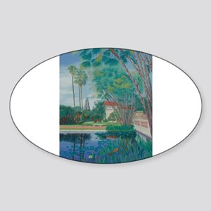 Balboa Park Pond Sticker (Oval)